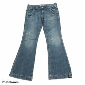Old Navy ultra low rise flare jeans. Size 8